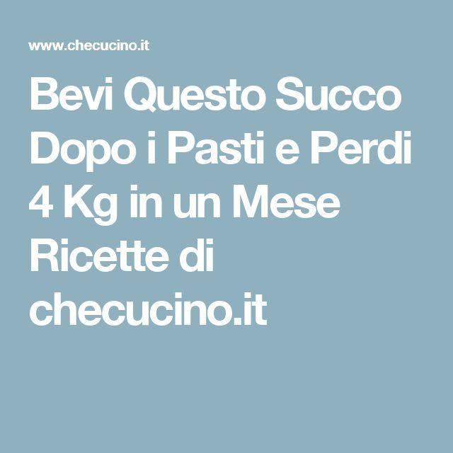 Bevi Questo Succo Dopo i Pasti e Perdi 4 Kg in un Mese Ricette di checucino.it