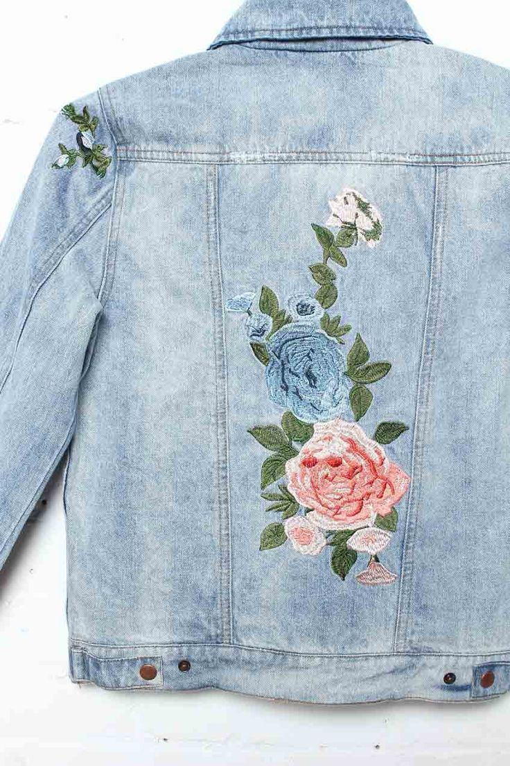 Field Day Floral Denim Jacket