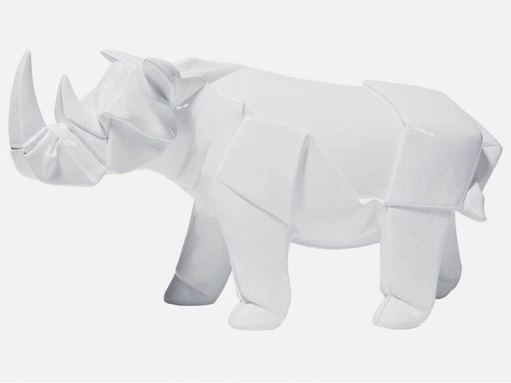 Figurka Dekoracyjna Origami Rhino — Figurki dekoracyjne Kare Design — sfmeble.pl