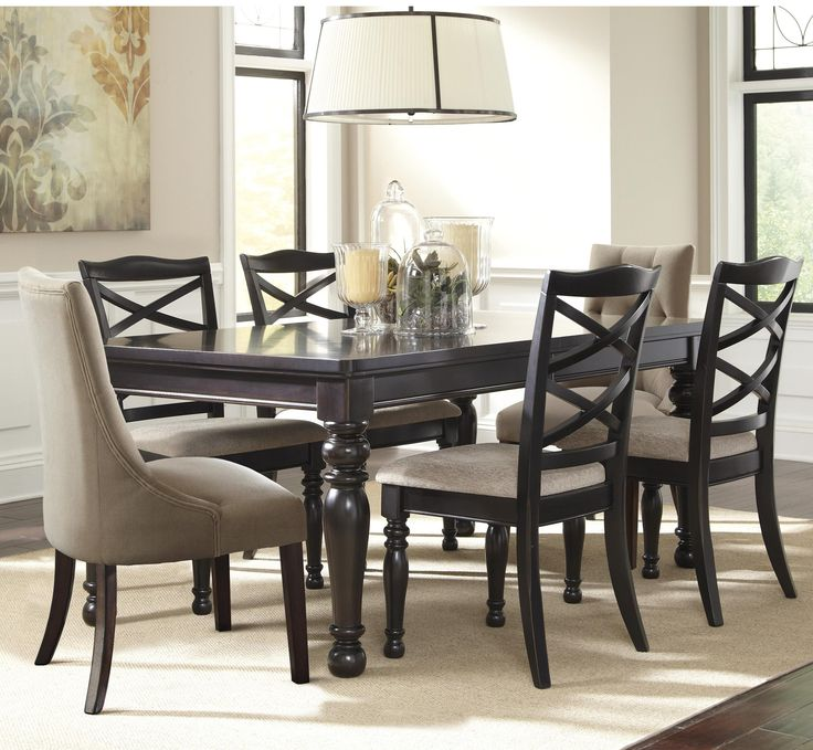 The Harlstern Dining Room Set By BenchCraft Ashley Furniture Brings A Rustic Vintage Casual Style To Any Decor With Rich Transparent