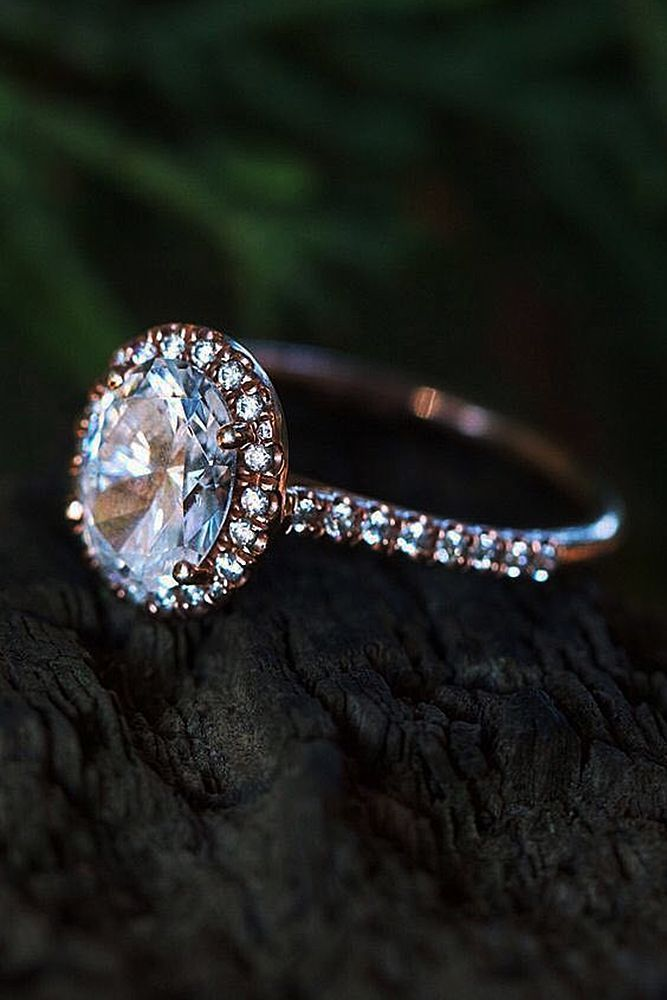 30 Halo Engagement Rings Or How To Get More Bling Wedding Rings