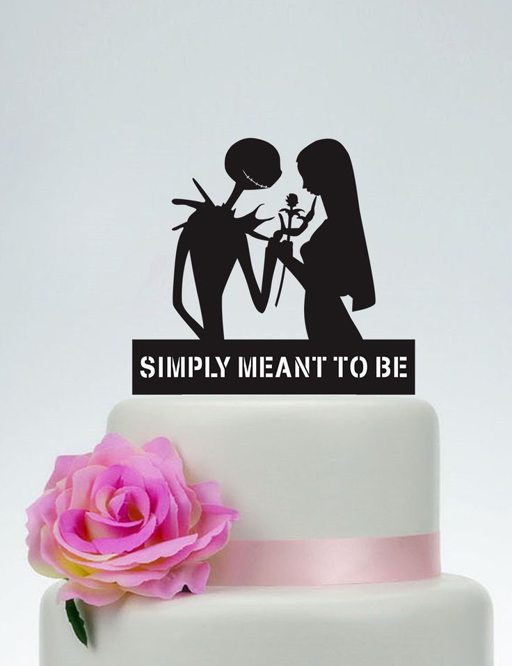 Wedding Cake Topper,Simply Meant To Be,Personalized Cake Topper,Jack Skellington Cake Topper, Jack and Sally, Halloween Wedding Topper P146 by SpecialDesignForYou on Etsy https://www.etsy.com/listing/251322127/wedding-cake-toppersimply-meant-to