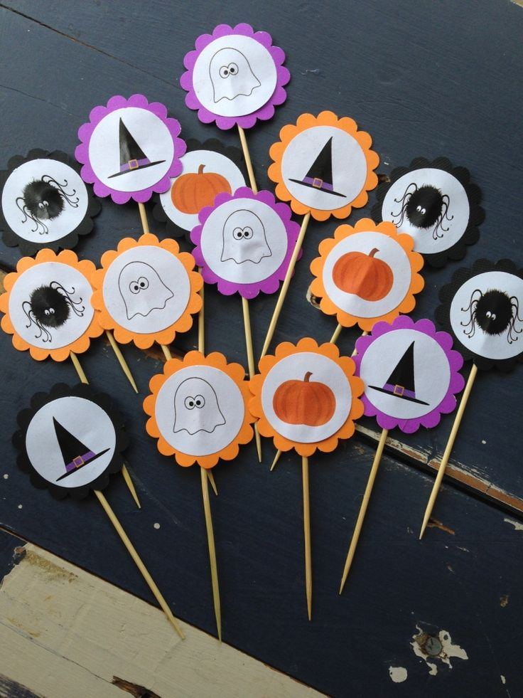 Halloween Party Cupcake Toppers