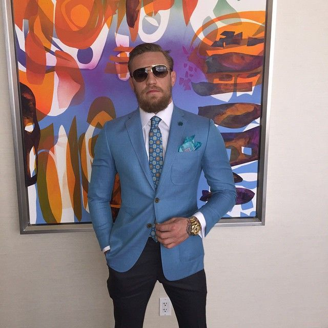 sharp as always, in a blue suit is Conor McGregor : if you love #MMA, you will love the #MixedMartialArts and #UFC inspired gear at CageCult: http://cagecult.com/mma