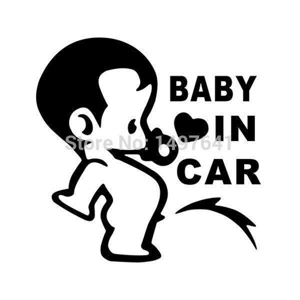 Schöne Lustige Jdm Kind Jungen Baby Im Auto An Bord