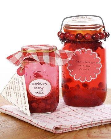 Cranberry-and-Orange Infused Vodka Recipe Wonder if u could do grapefruit instead of orange...instant Sea Breeze!