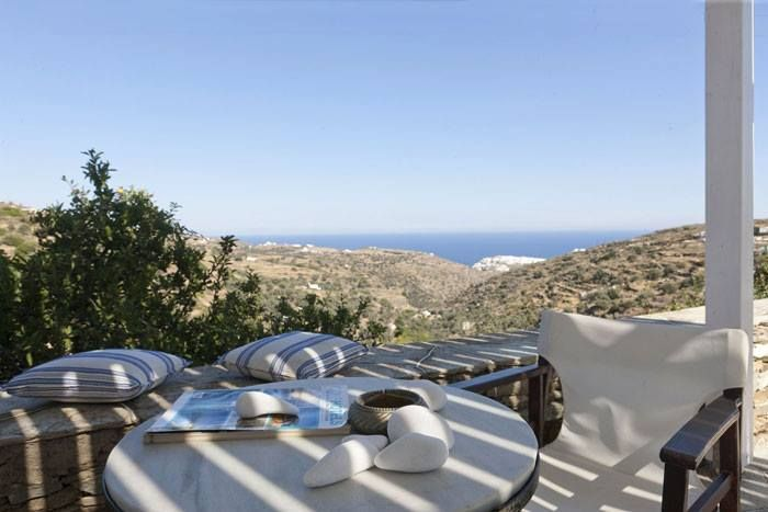 "The villa at the ""Vrissi"" site in Sifnos is a point of reference of the Cycladic architectural tradition and without any doubt of natural beauty. Its spaces embrace you and fill you with respect for the Cycladic sensitivity and civilization.It is a house that gives the impression that it is curved in the rock like a proud eagle's nest. A horizon full of nature, the sea all around, with the wonderful view at the Kastro of Sifnos that can enchant you. #Sifnos #Greece #Cyclades #VillaVrissi"