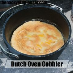Dutch Oven Peach Cobbler is a great dessert to make while camping or when practicing your off-grid cooking skills. This particular recipe is very easy and can be made entirely with canned and dry goods if you are looking to add to your food storage ideas. // via: www.thebackyardpioneer.com //