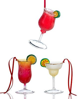 Tropical Drink Ornaments! (The top one looks a lot like a LaCroix Razarita).