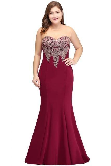 48ae0b7a219 Mermaid Sleeveless Satin Long Dress – Curvy Fashion Queen