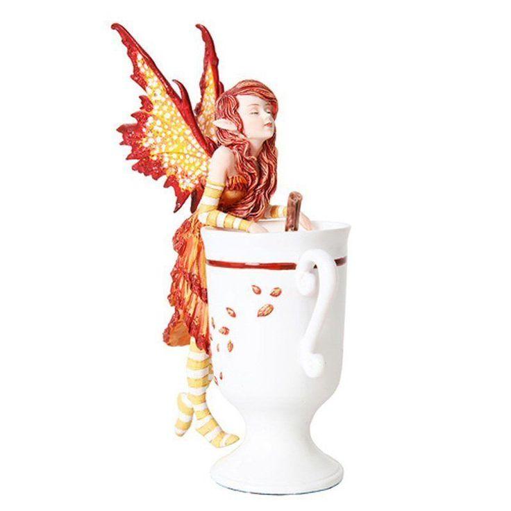 Amy Brown Cider Faery Fantasy Art Statue Cup Fairy Figurine