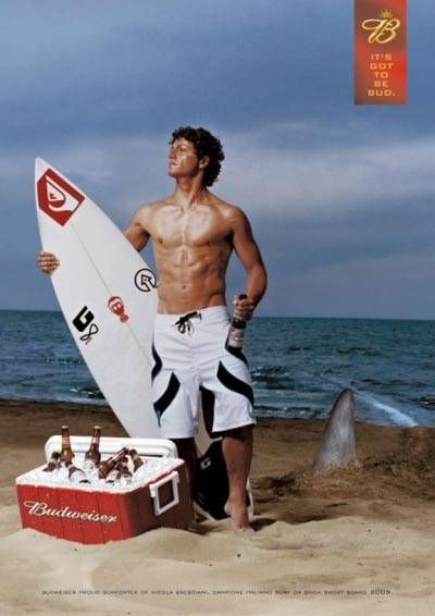 11 best bud light images on pinterest bud light beer and drinks fabulous budweiser beer commercial man on the beach with a shark coming in great aloadofball Choice Image