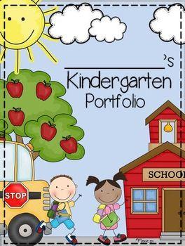 Kindergarten Portfolio and Memory Book | Kindergarten-portfolio ...