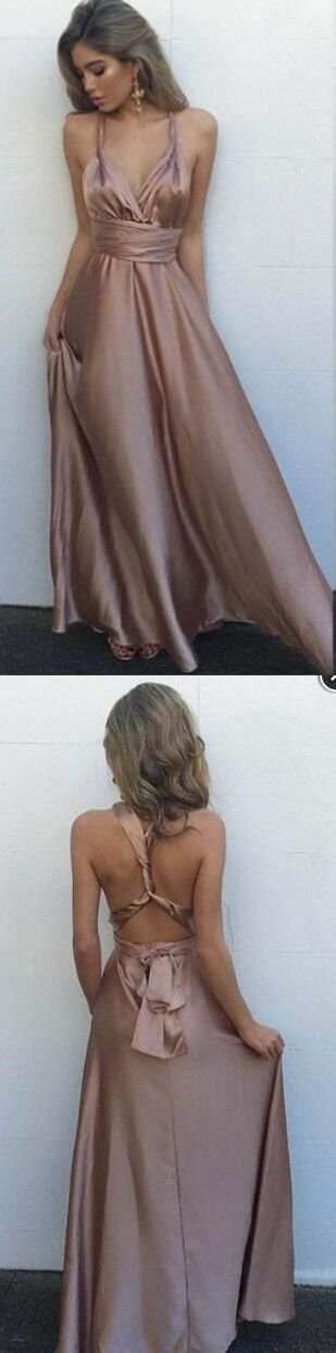 2017 long prom dress, brown long prom dress, formal evening dress