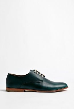 Petrol Blue Leather New Mario 36 Derby Shoes by b Store. Derby ShoesFashion  OutletDiscount DesignerMen's ...