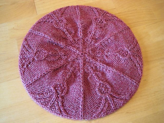 Thistle Tam hat knitting pattern.  Thistle is the national flower of Scotland!  http://www.ravelry.com/patterns/library/thistle-mittens-2