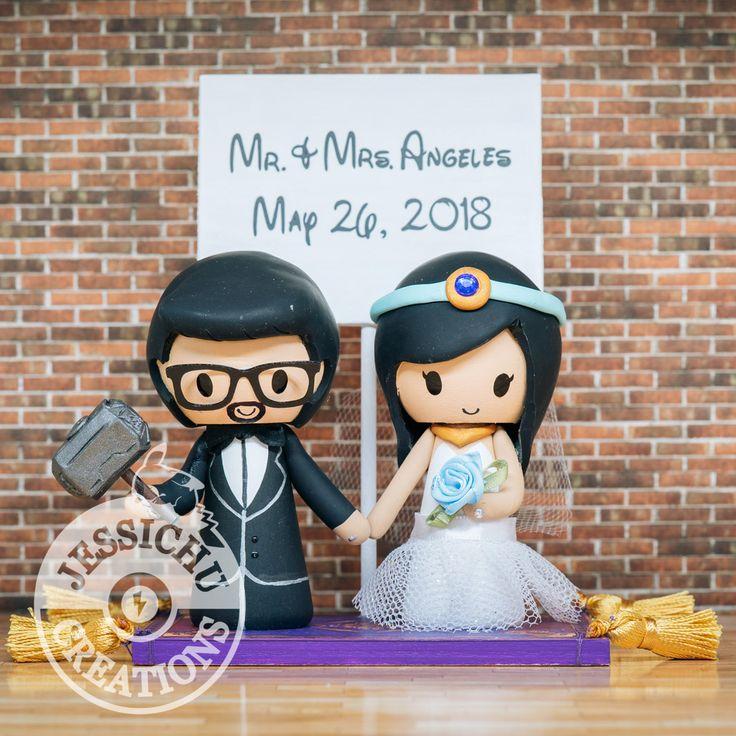 Handmade Custom Wedding Cake Toppers Invites Programs Save The Date Or Home Decor