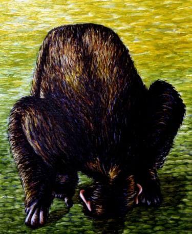 "Saatchi Art Artist Dan Civa; Painting, ""Chimpanzee bowing"" #art"