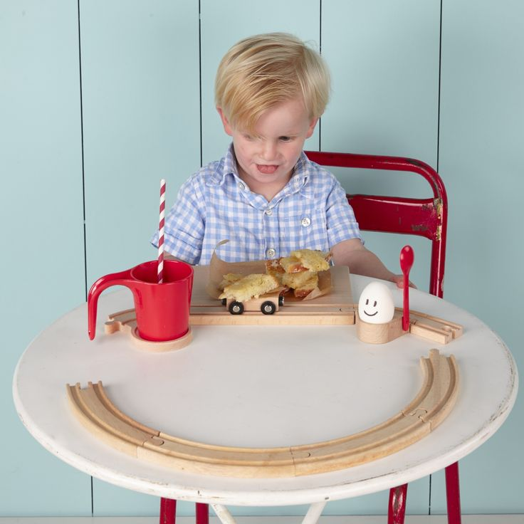 Our Railway Breakfast Set is a fun combination of high quality coasters, tunnels, a cup and a classic wooden railway.
