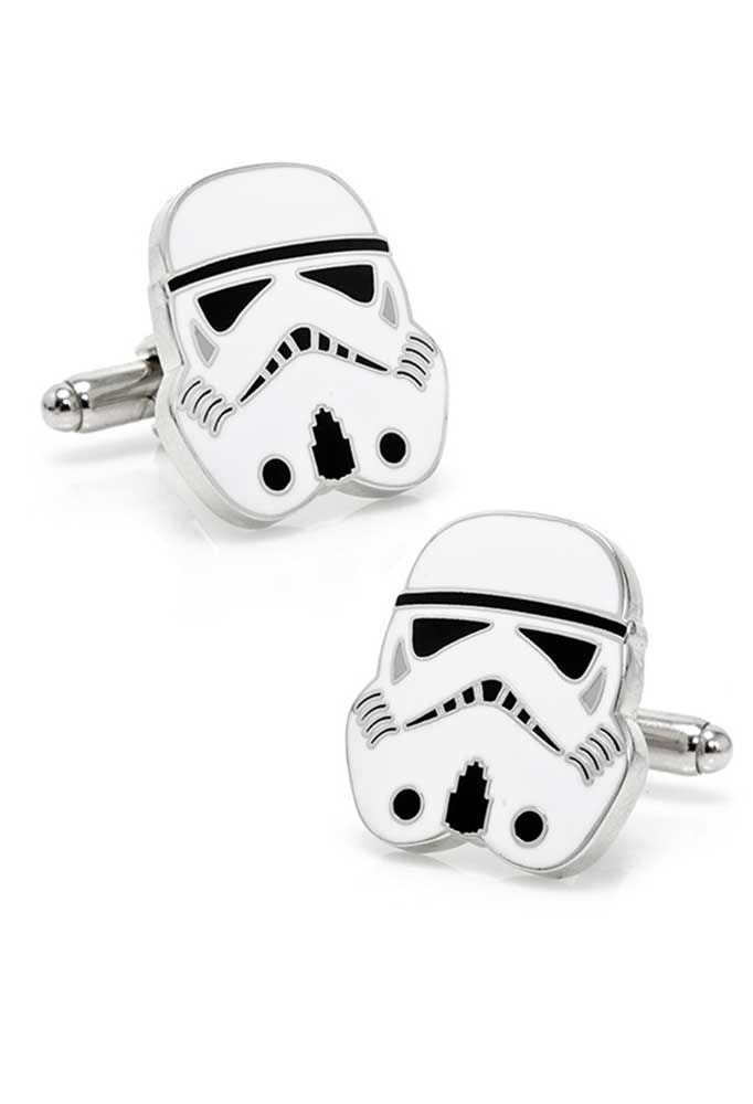 An Empire is nothing without its foot soldiers. Begin your journey to the Dark Side with these Star Wars inspired Imperial Stormtrooper Cufflinks.