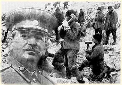 In 1933 6.000 people were deported by the Russian government to the Nazino Island. Left without shelter or enough food, episodes of cannibalism started.