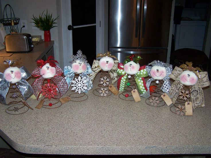 Angels using rusty old bed springs # 41 I will be making some more of these for the holidays 2016. They will be on Etsy under GrandmasBabyDolls, all one word. 15.00 each plus shipping