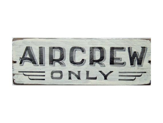 Aircrew Only Sign, Aviation Gift, Aircraft Theme, Airplane, Aviator, Gift For Pi… – Maria