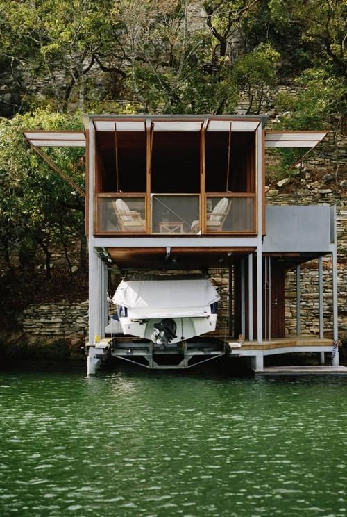A boathouse in Texas by Andersson-Wise Architects: Cabin, Andersson Wise, Lake Houses, Austin Texas, Lakes Houses, Boats Houses, Boathouse, Wise Architects, Architecture