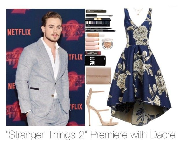 """""""Stranger things 2 premiere with Dacre"""" by forever-a-kaitlyn ❤ liked on Polyvore featuring Giuseppe Zanotti, NYX, John Lewis, Urban Decay, Puma, Chantecaille, Givenchy, MANGO, outfit and dacremontgomery"""
