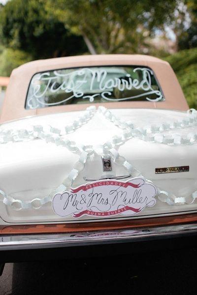 Getaway Wedding Car Decorations Ideas Uk 24