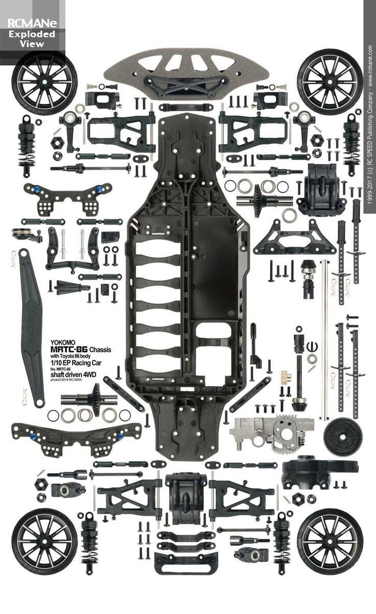 Sa089_yokomo toyota 86 drift car item mrtc 86 sd sport chassis 1 10