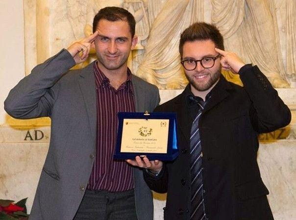 Personalità Europea 2013 mentalisti Fabrizio Industria Raimondo Laino