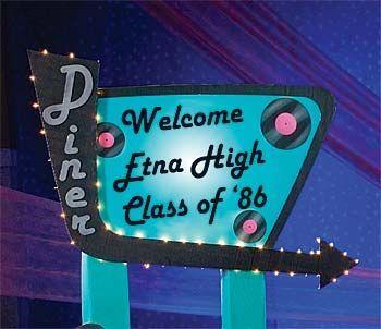 50's ideas | Recreate this cool drive in diner sign by tracing this transparency ...