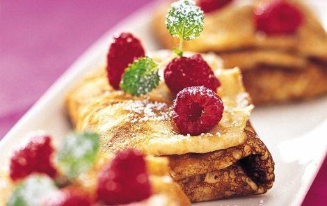 Danish pancakes, thin and crispy