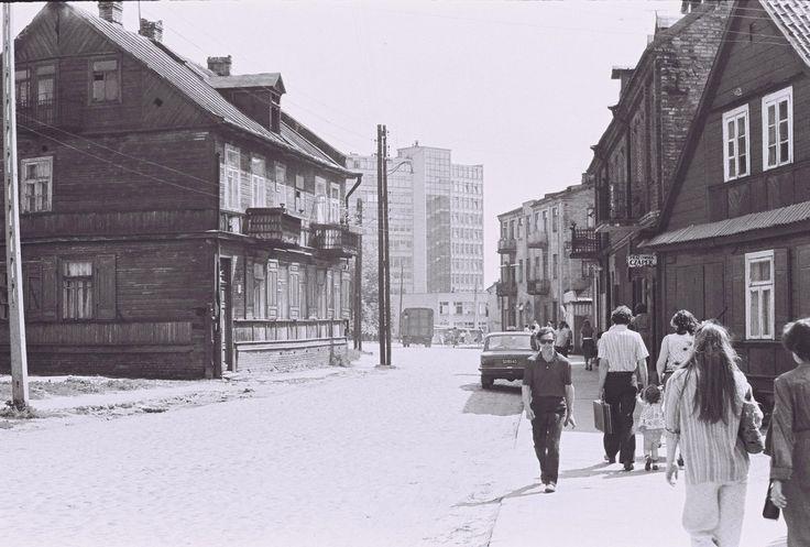 Białystok '70s ul. Sucha - nie istniejąca - fot. J. Niziołek