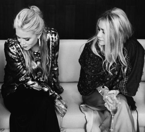 Mary-Kate and Ashley Olsen.