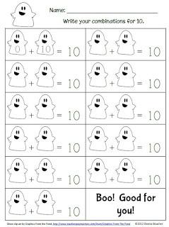 Classroom Freebies Too: Ghostly Make 10