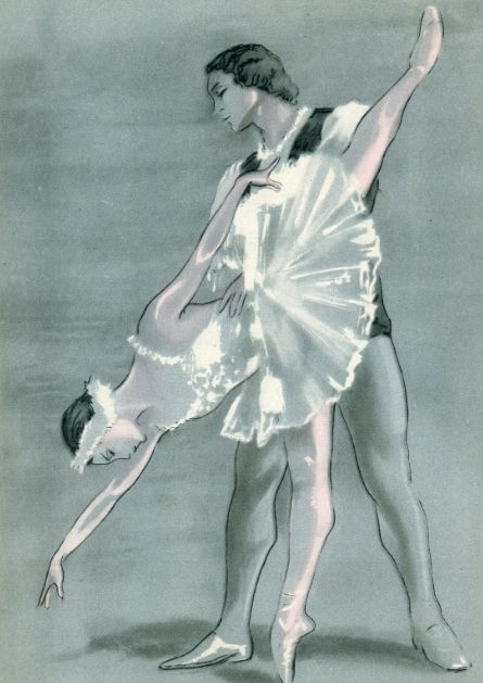 Открытки, старинные балерины открытки