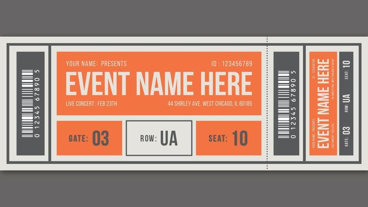 Event Ticket Design - Affinity Designer