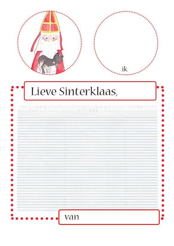 Sinterklaas verlanglijstje. Zichzelf tekenen en het lijstje (of brief) schrijven voor de Sint. Gratis download op het blog.