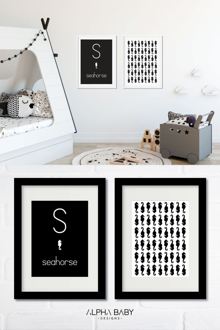 These posters make a fabulous baby shower gift! The black and white design ensures that they're gender neutral and will complement any color scheme! You can't go wrong! Available from A-Z.