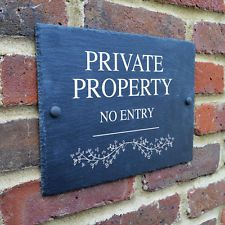 Image result for slate private property sign