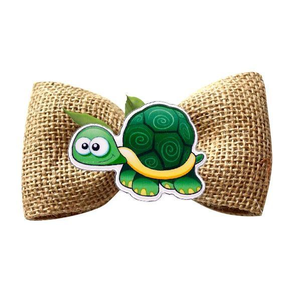 Broșă mărțișor tip pin Broscuță țestoasă veselă
