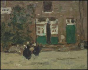 James Wilson Morrice 1865-1924 Canadien  Street in Brittany ca 1906 hsp 12.4x15.6