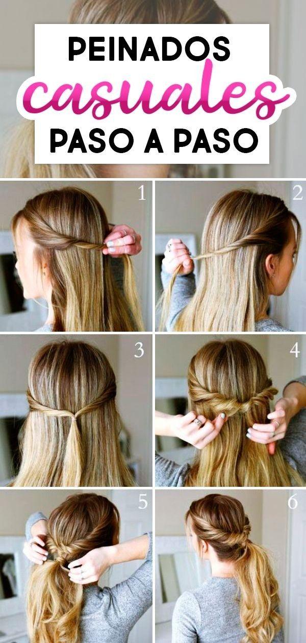Epingle Par Cyrina Rolling Sur Peinado Coiffures Simples Astuces De Coiffure Tutoriel Coiffure Cheveux Long