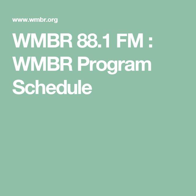 WMBR 88.1 FM : WMBR Program Schedule