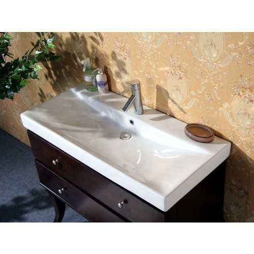 single sink dark walnut vanity with soft close doors width height depth finish dark walnut