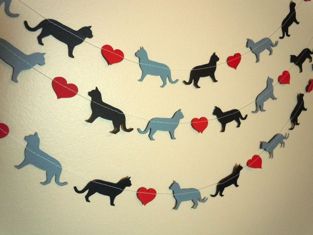 cat garland - Google Search