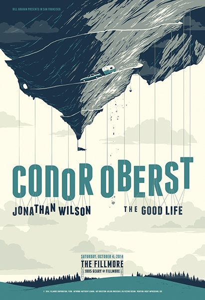 Conor Oberst - gig poster - Matthew Fleming