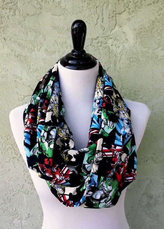 Marvel Infinity Circle Scarf  Captain America by HandmadeReverie